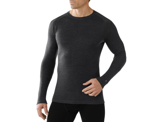 Smartwool Merino 250 Baselayer Crew Hombre, charcoal heather